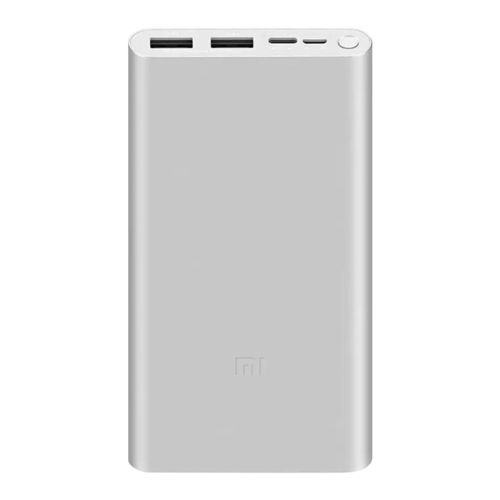 Xiaomi 10000mAh Mi Power Bank 3 / (18W) Dual USB Charger for Phone / Tablet - Silver